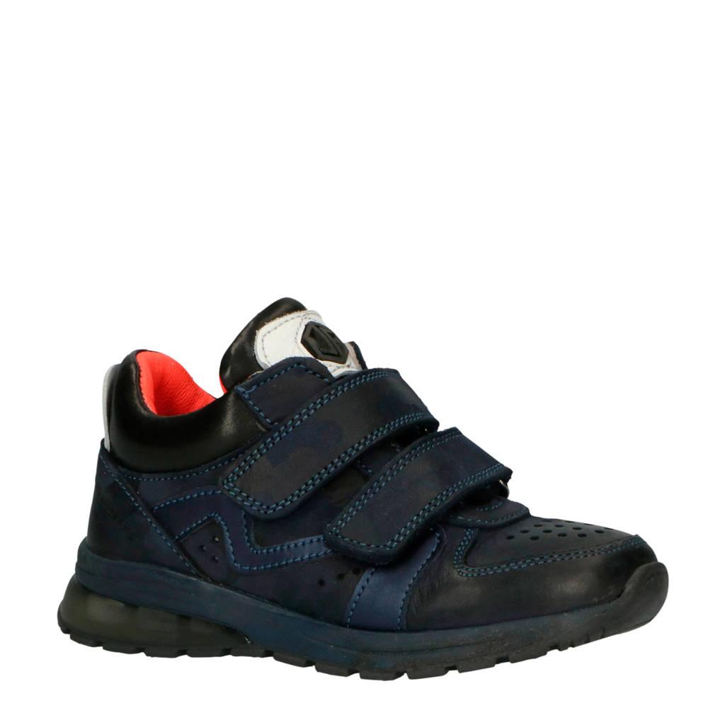JOCHIE&FREAKS   leren sneakers donkerblauw, Donkerblauw