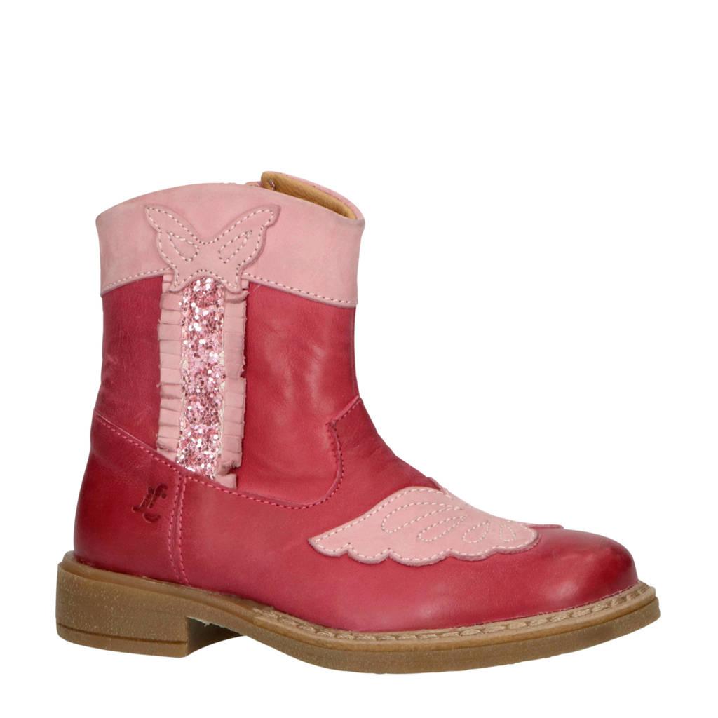 JOCHIE&FREAKS   leren cowboylaarzen roze, Roze