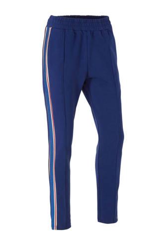 regular fit joggingbroek met zijstreep blauw