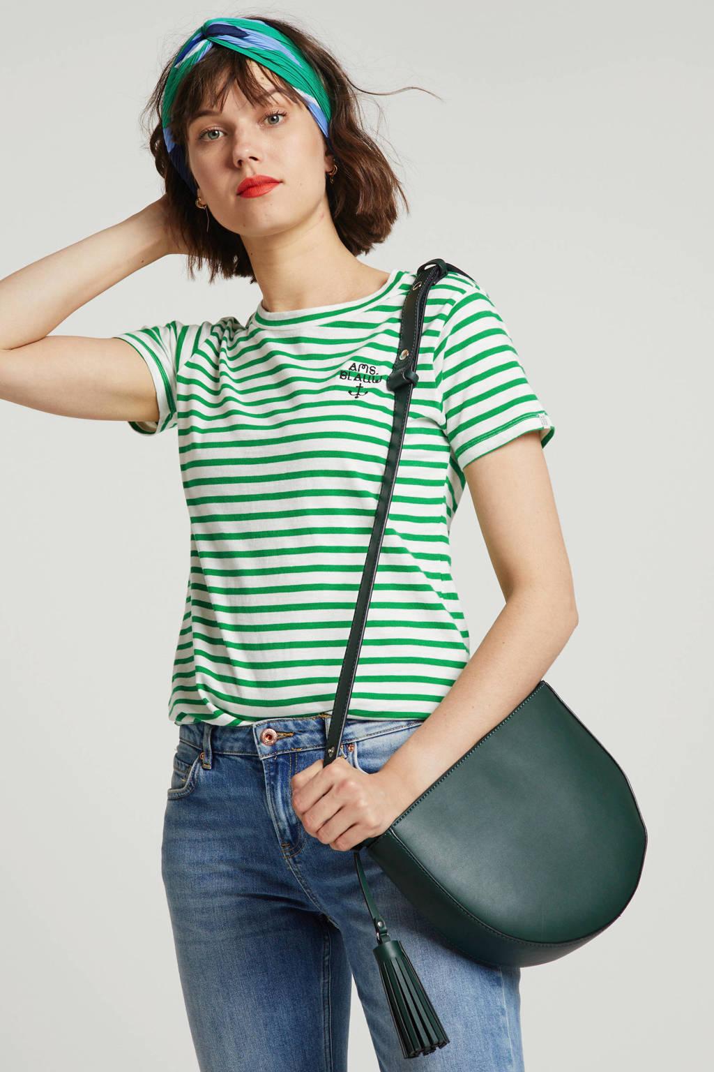 Scotch & Soda gestreept T-shirt groen/ecru, Groen/ecru