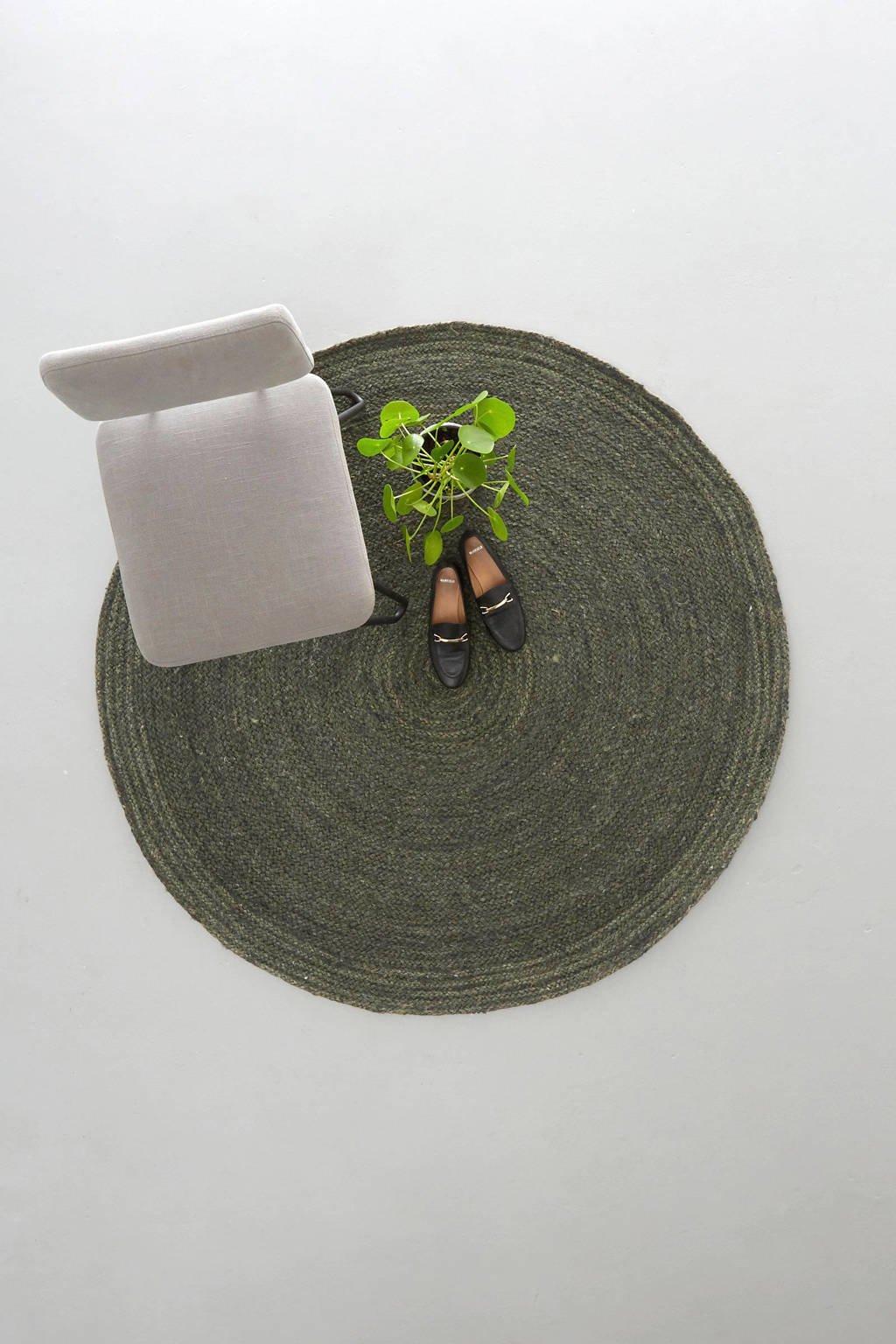 Wehkamp Home vloerkleed  (Ø150 cm), Groen
