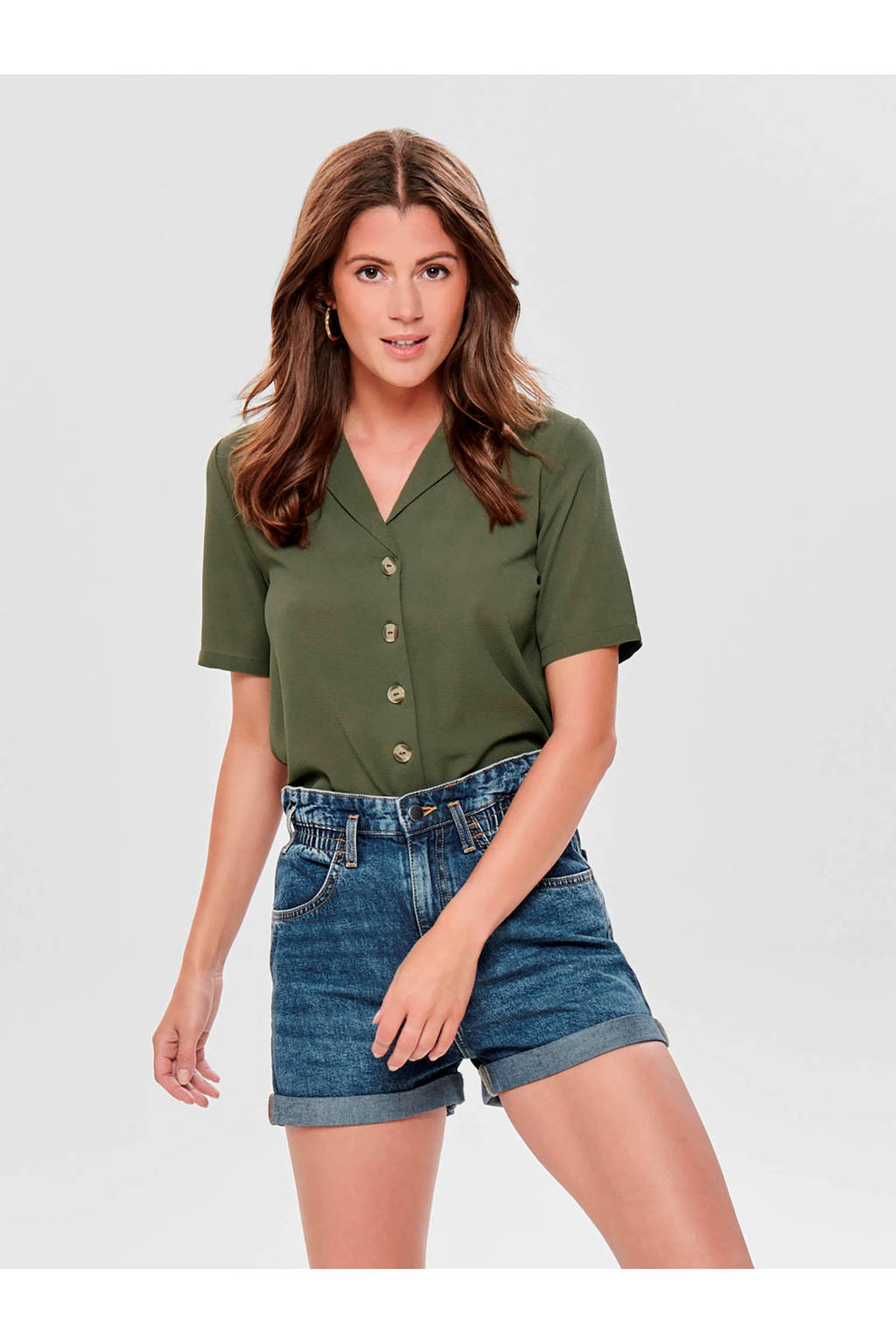 ONLY blouse groen, Groen