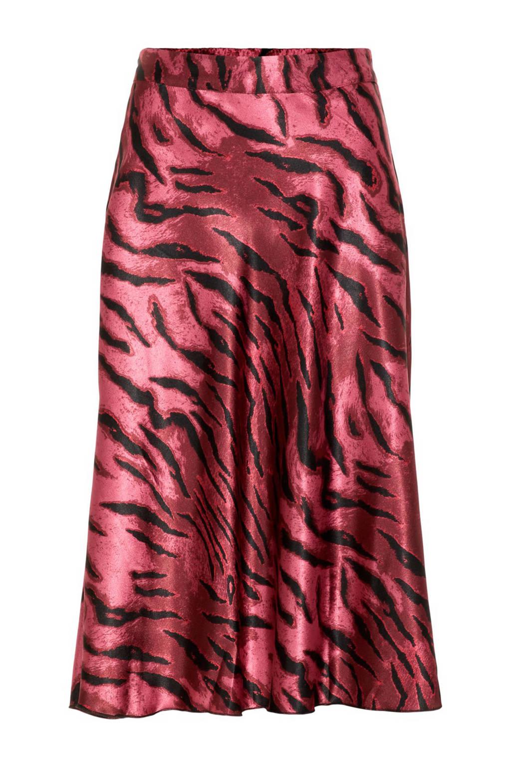 VERO MODA rok met tijgerprint roze, Roze