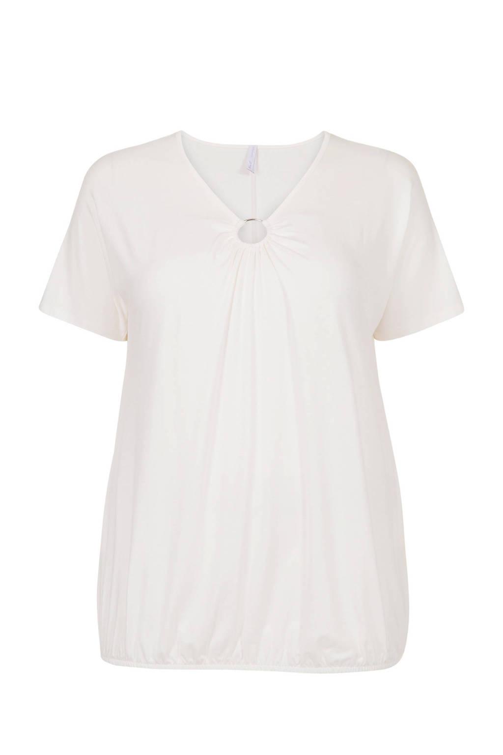 Miss Etam Plus T-shirt wit, Wit