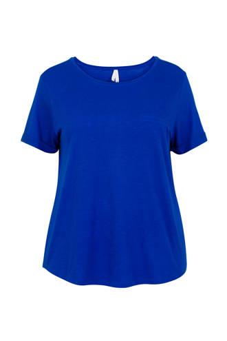 Plus T-shirt koningsblauw