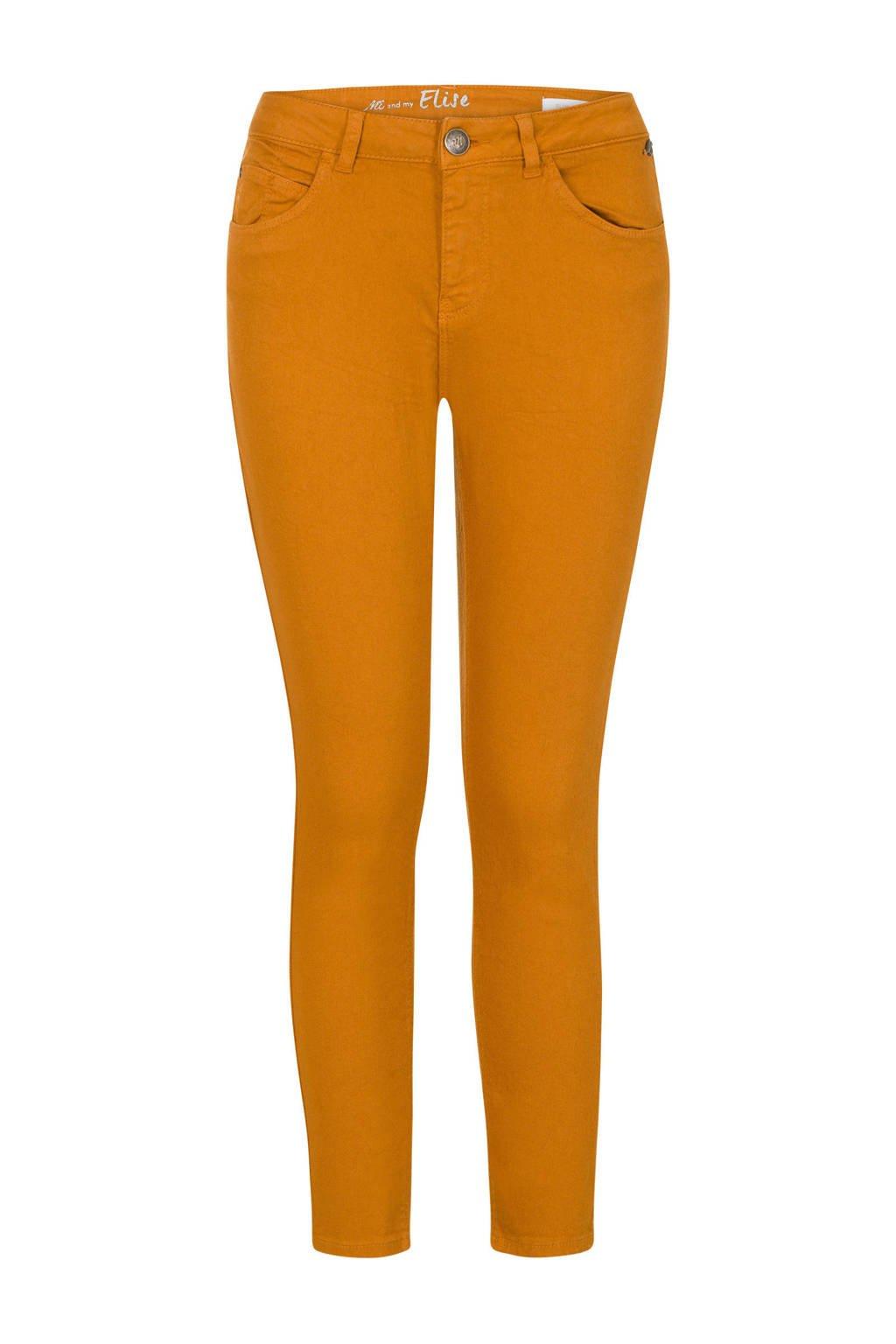 Miss Etam Regulier slim fit broek licht oranje, Licht oranje