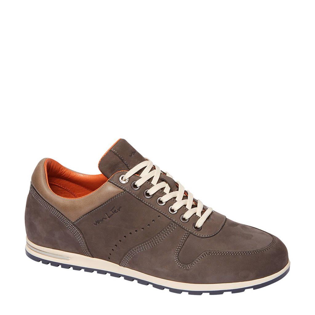 Van Lier 1917202 suède sneakers grijs, Grijs/bruin