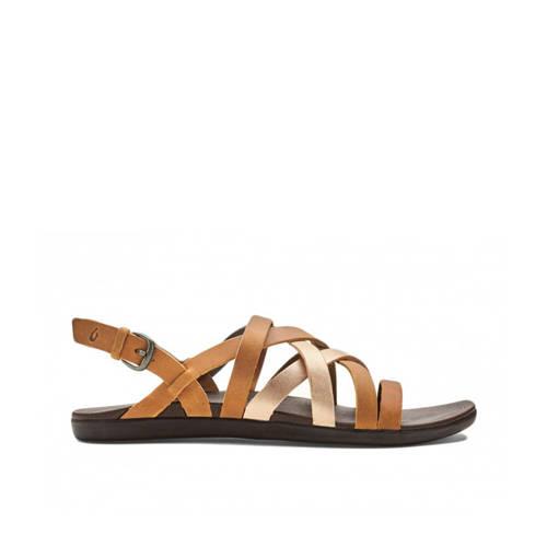Olukai Awe Awe Awe Awe leren outdoor sandalen natu
