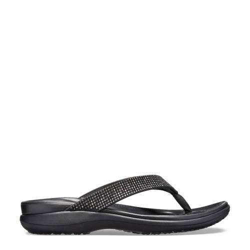 Crocs Capri V Diamante Flip teenslippers zwart