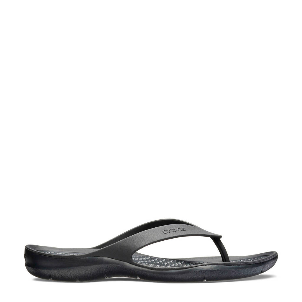 Crocs   Swiftwater Flip teenslippers zwart, Zwart