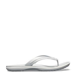 Crocband Flip teenslippers grijs