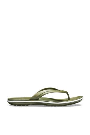 Crocband Flip teenslippers groen