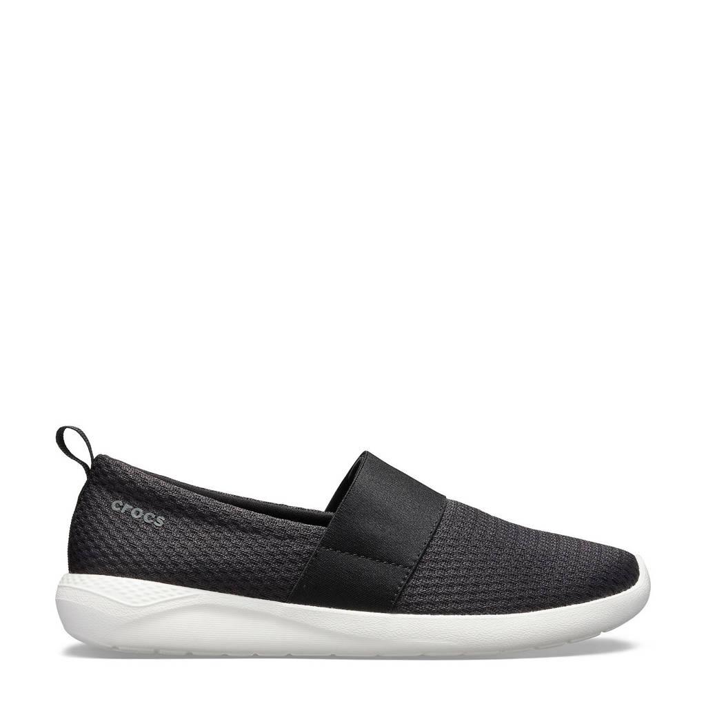 Crocs   LiteRide Mesh Slip-On instappers zwart, Zwart