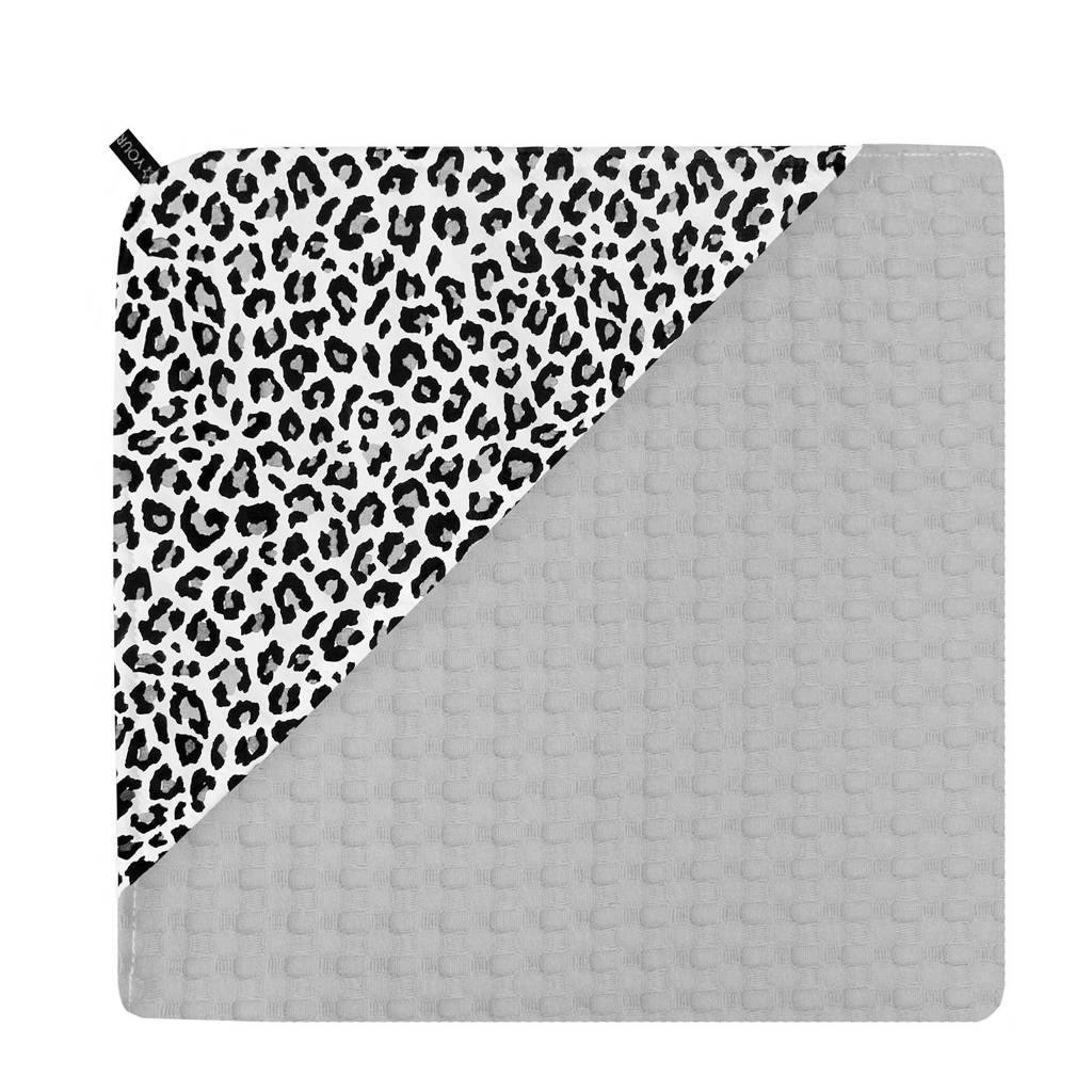 Your Wishes swaddle leopard grey, Grijs