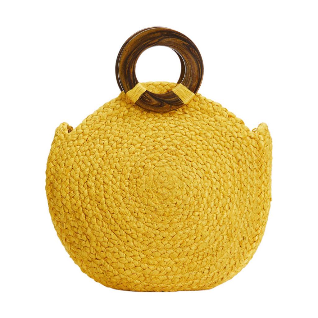 Parfois   jute handtas geel, Geel
