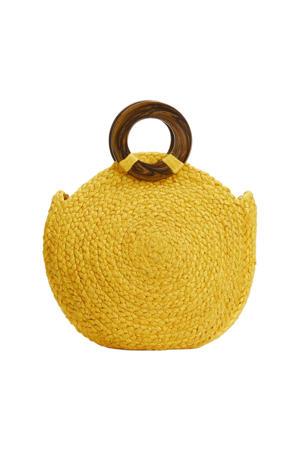 jute shopper geel
