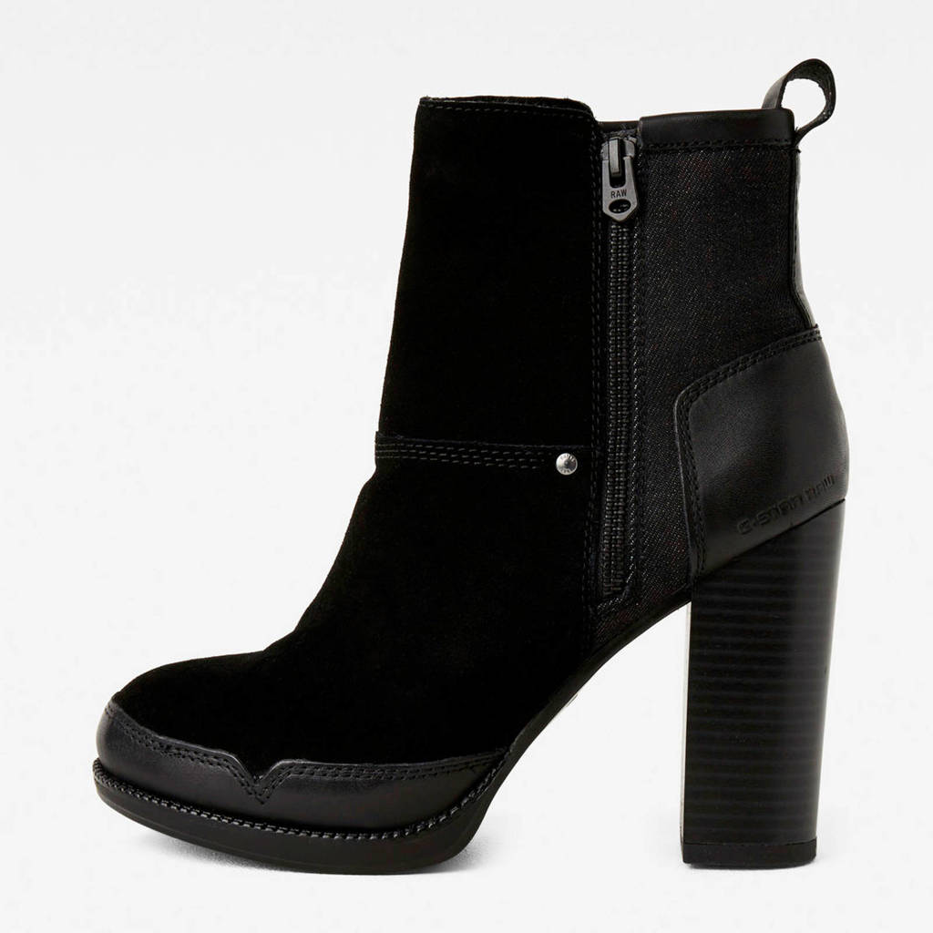 G-Star RAW Labour Zip Boot  leren enkellaarzen zwart, Zwart