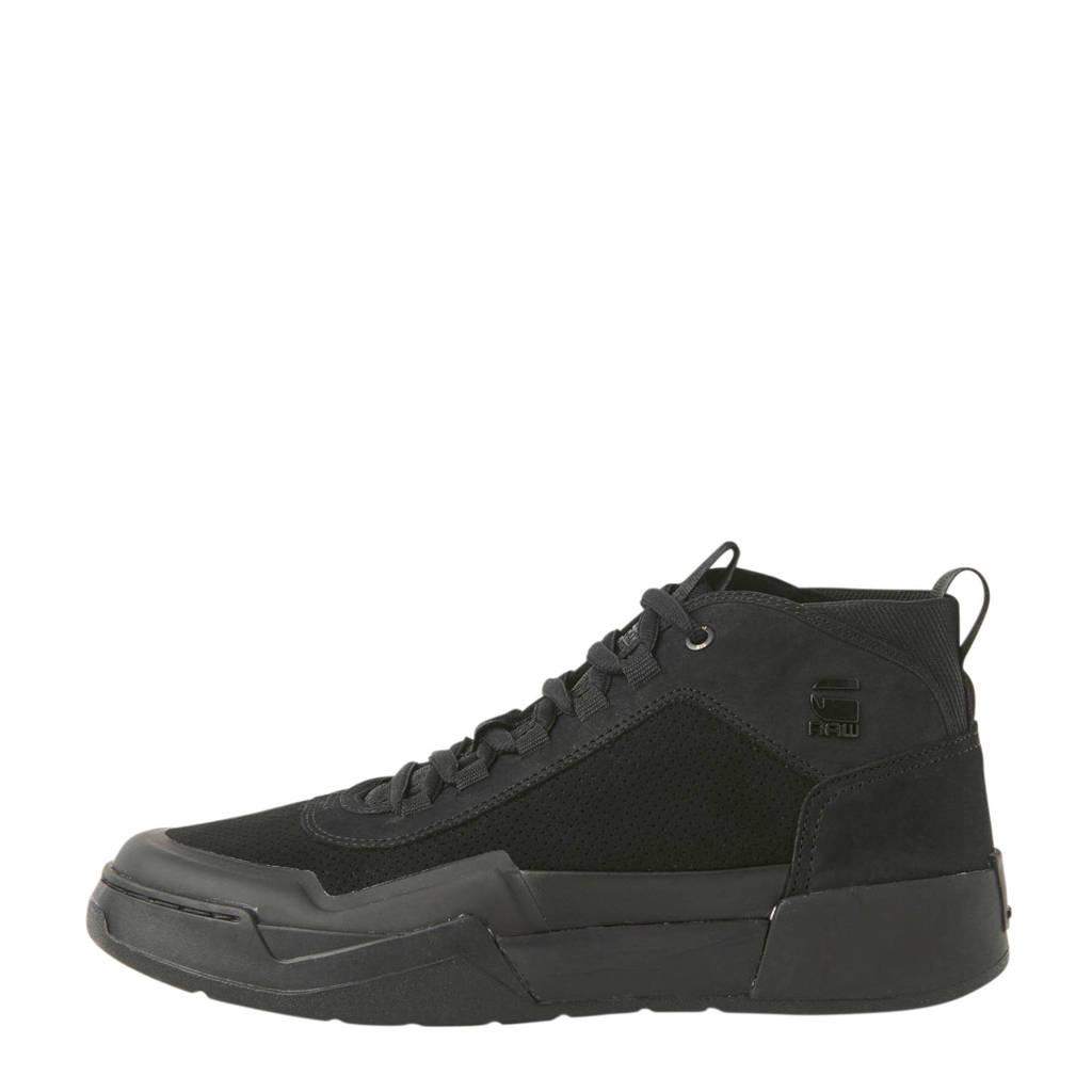 G-Star RAW Rackam Graft  suède sneakers zwart, Zwart