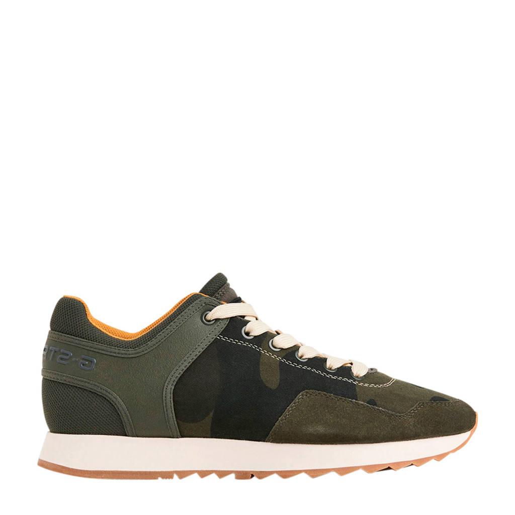 G-Star RAW  Calow leren sneakers groen, Legergroen