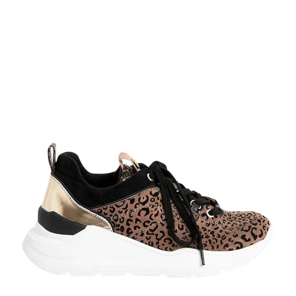 River Island   sneakers panterprint, bruin/zwart/goud