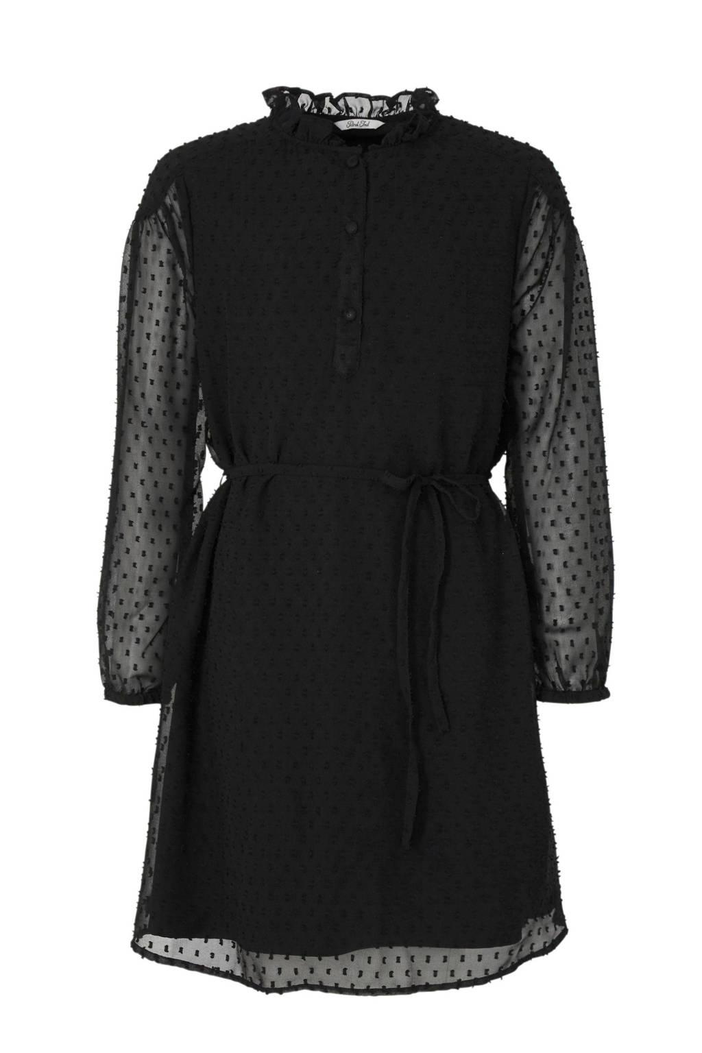 Petrol Industries semi-transparante jurk zwart, Zwart