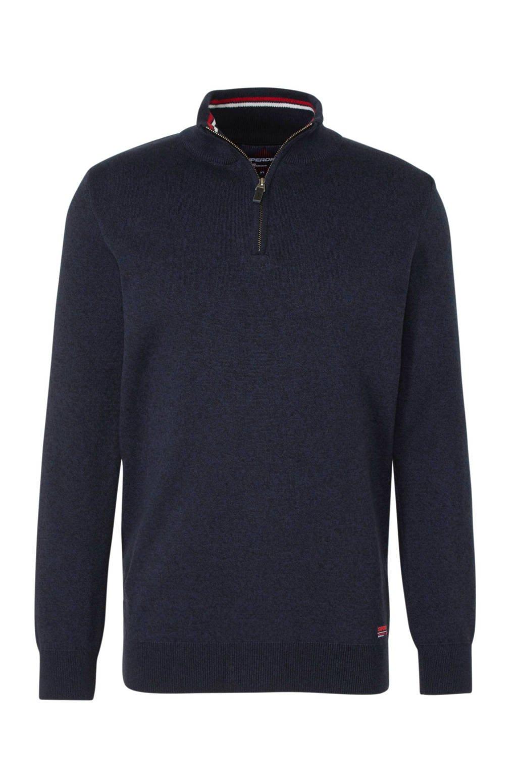 Superdry gemêleerde trui donkerblauw, Donkerblauw