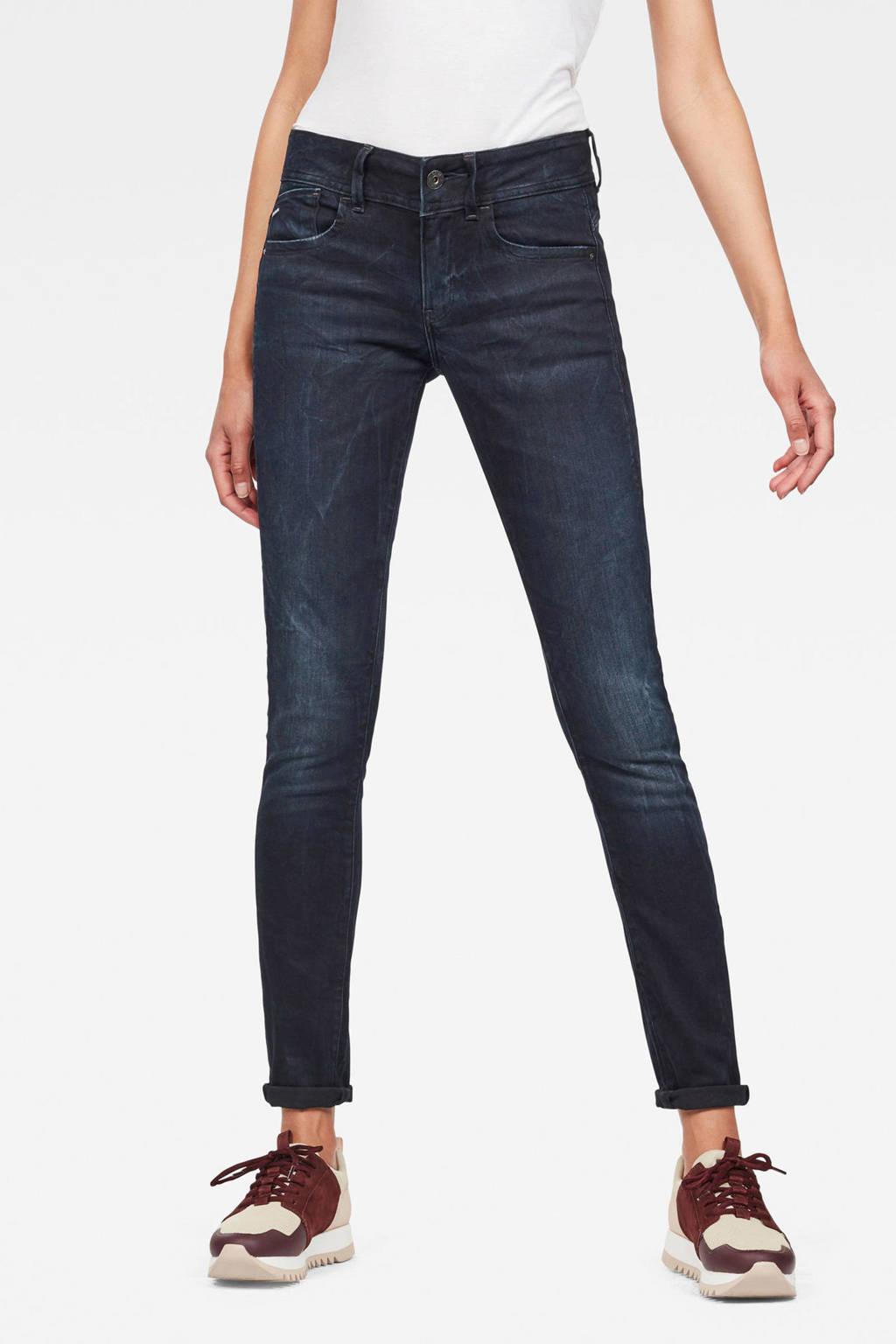 G-Star RAW skinny jeans Lynn donkerblauw, Donkerblauw