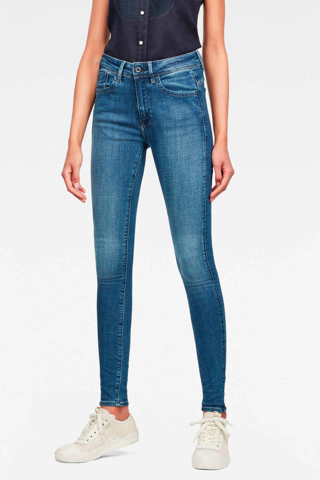G-Star RAW Lhana high waist skinny jeans, Blauw