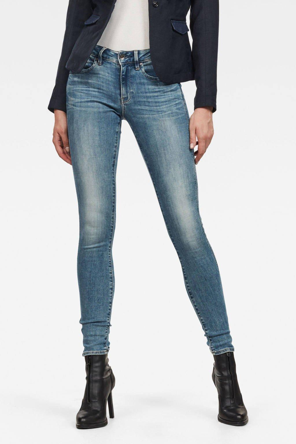 G-Star RAW skinny jeans Midge Zip lt vintage aged destroy