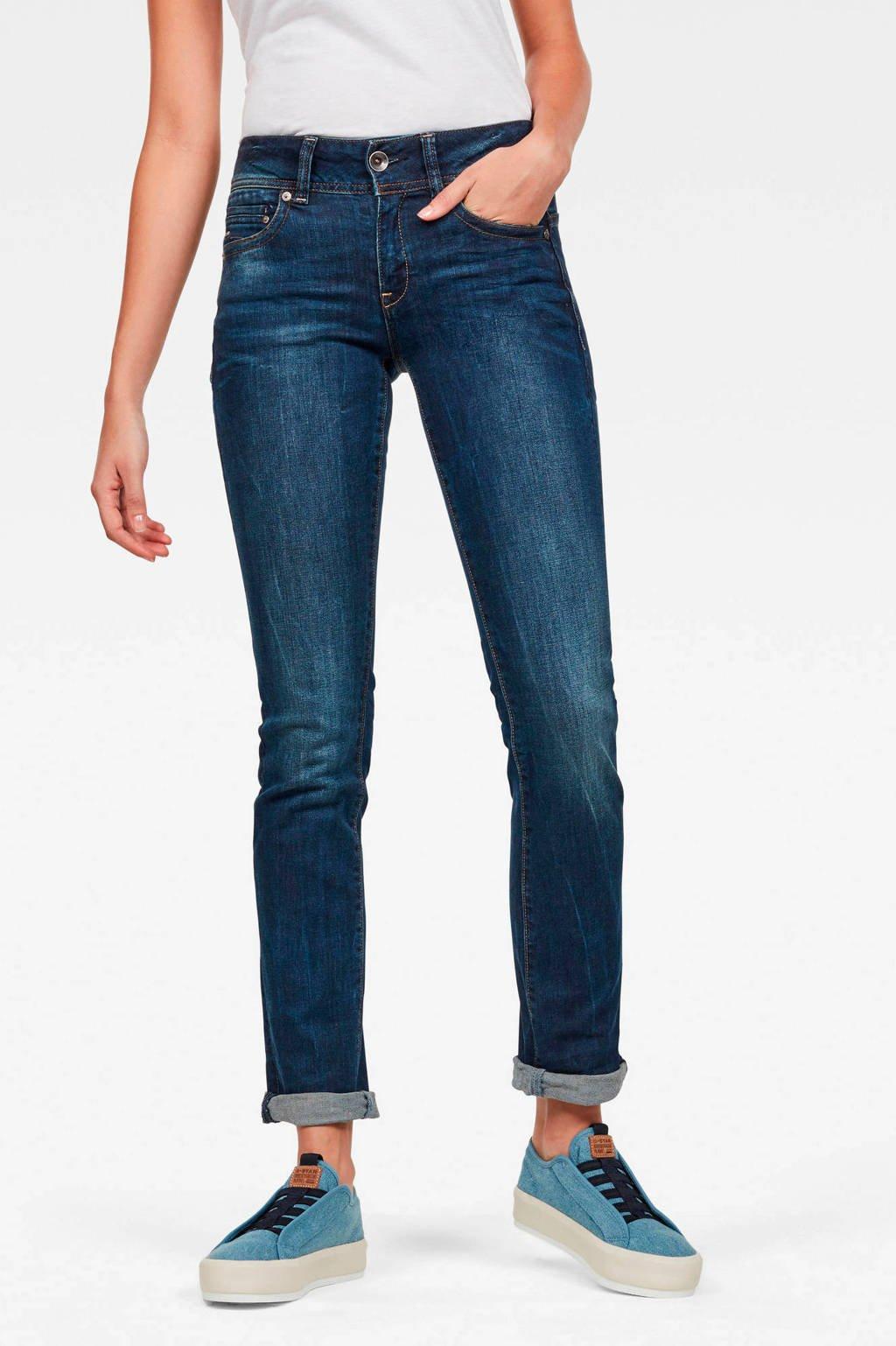 G-Star RAW straight fit jeans Midge donkerblauw, Donkerblauw