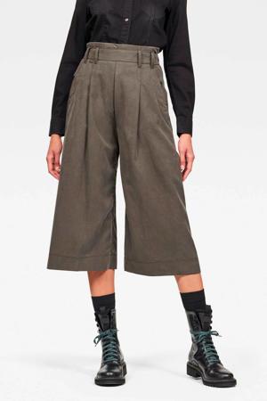 high waist culotte groen/grijs