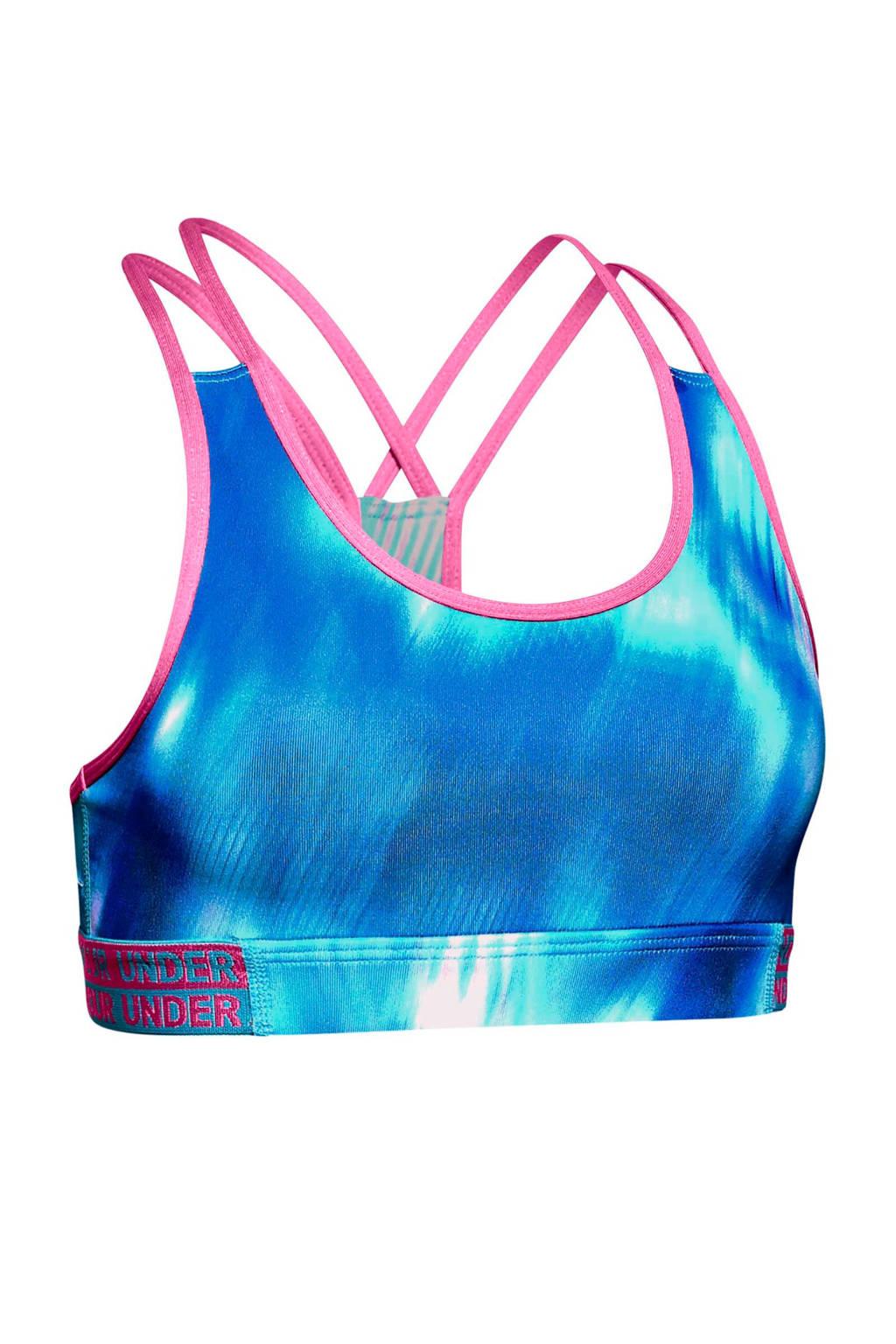 Under Armour sportbh blauw, Blauw/roze
