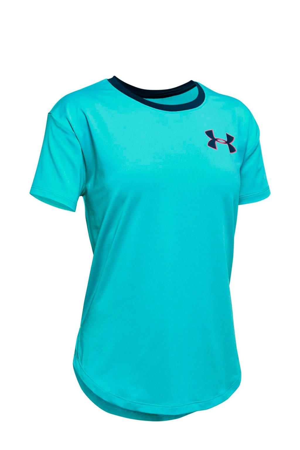 Under Armour sport T-shirt blauw, Blauw