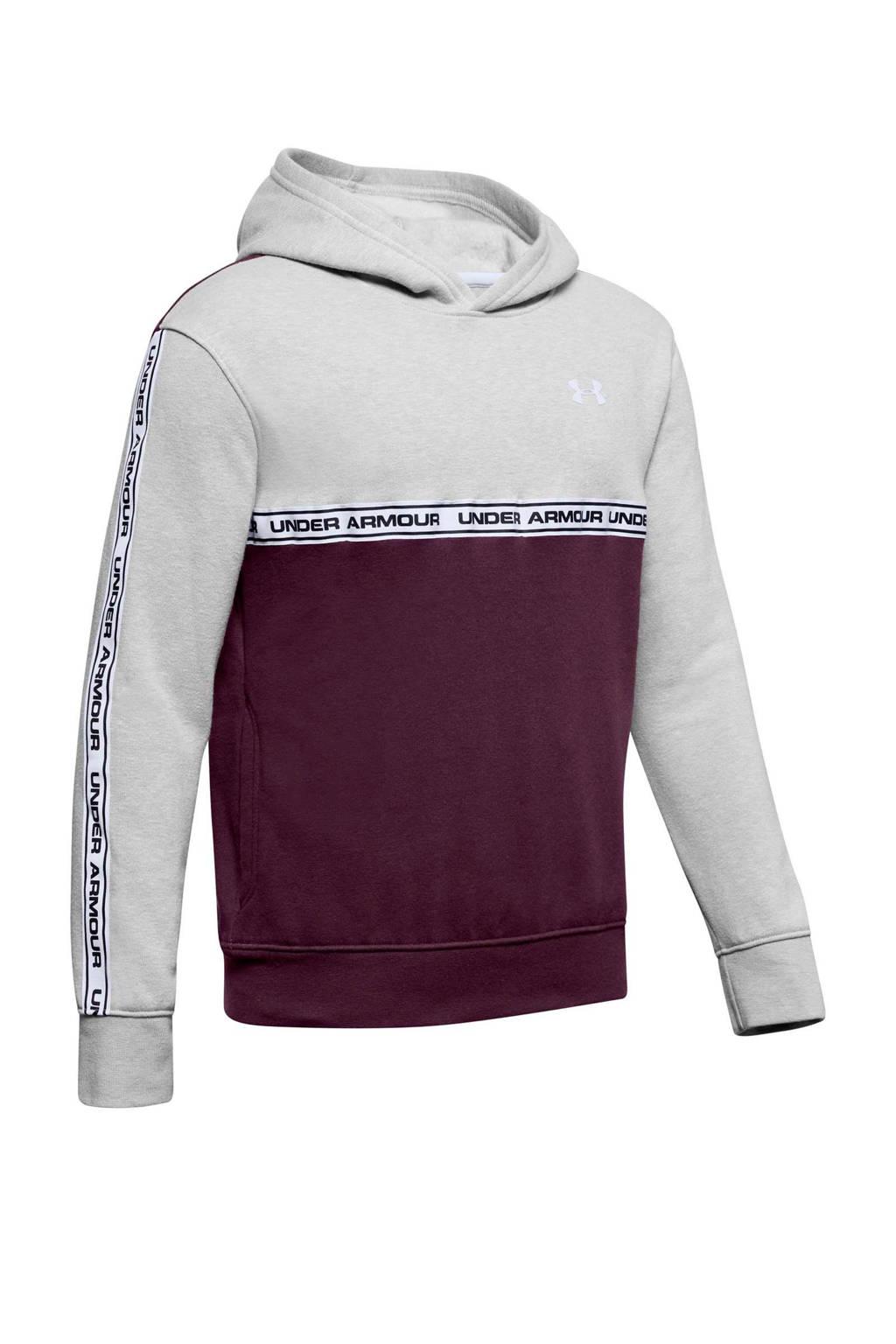 Under Armour   hoodie grijs/bordeauxrood, Grijs/bordeauxrood