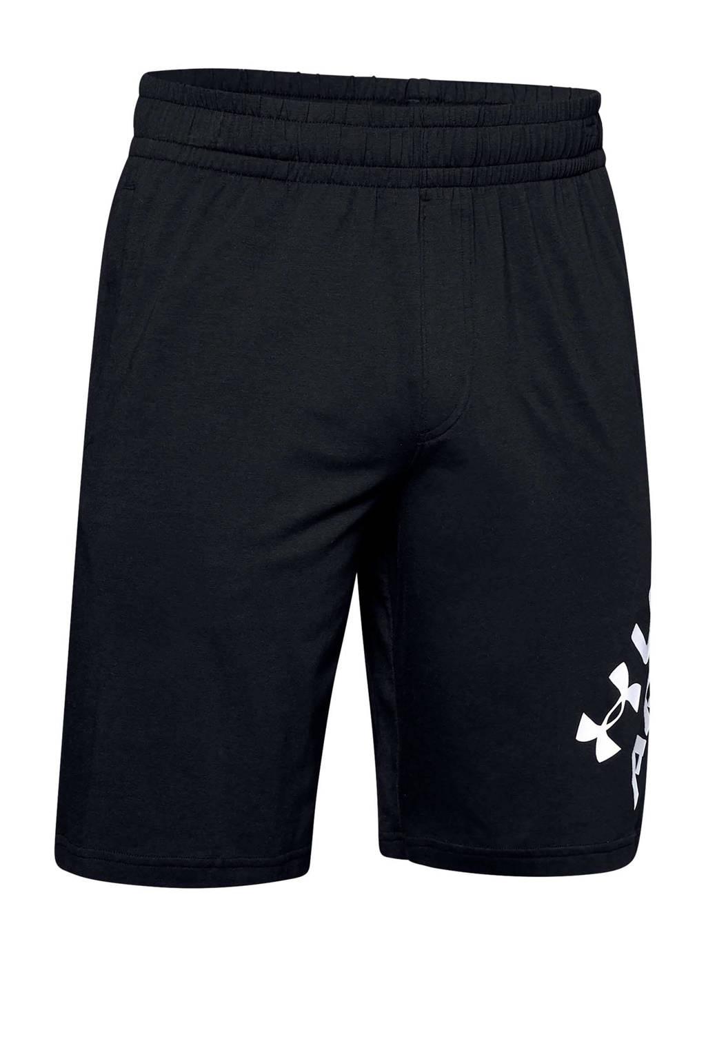 Under Armour   sportshort, Zwart/wit