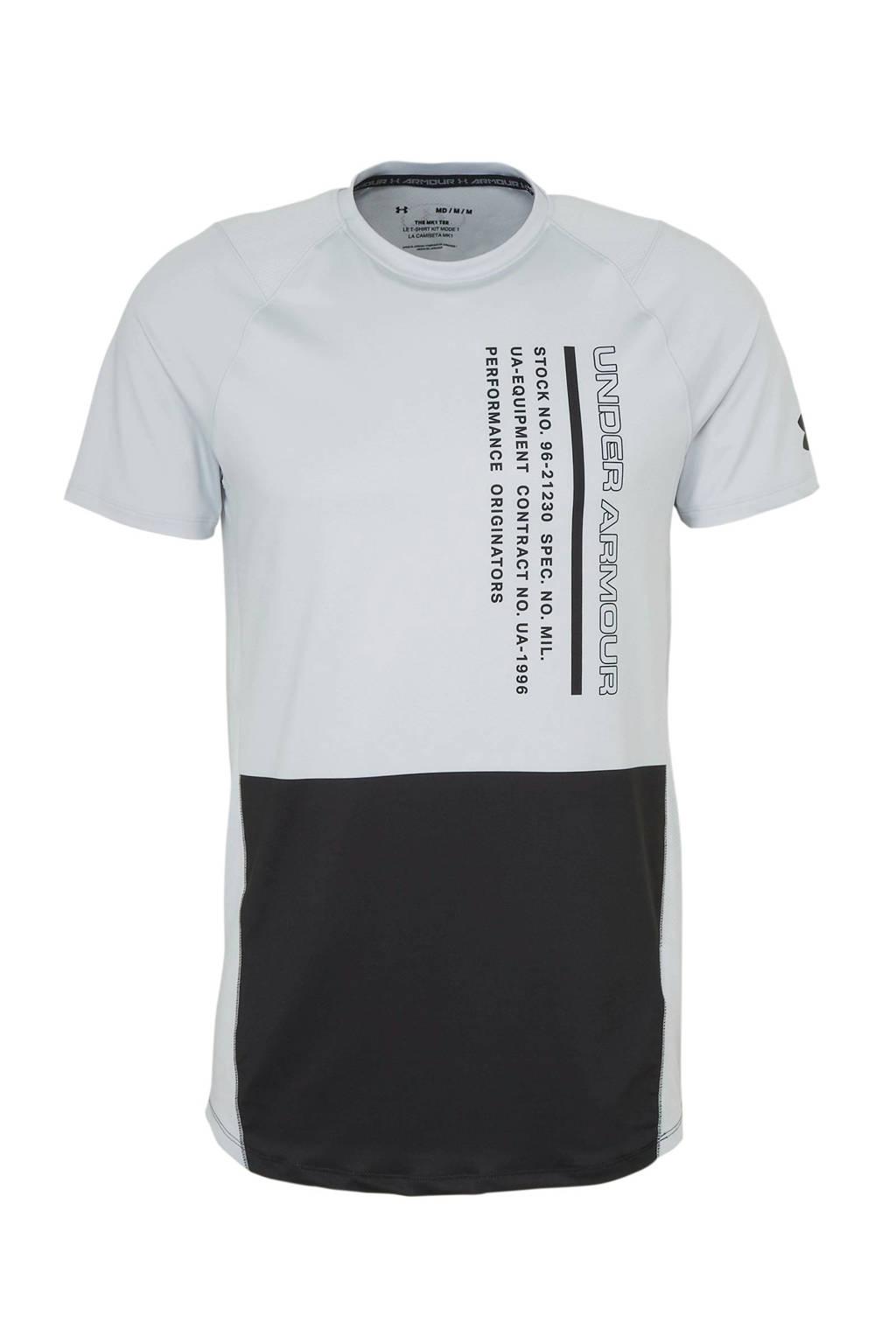 Under Armour   T-shirt lichtgrijs, Lichtgrijs/zwart