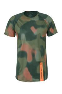 Under Armour   sport T-shirt  groen/grijs, Groen/grijs/oranje