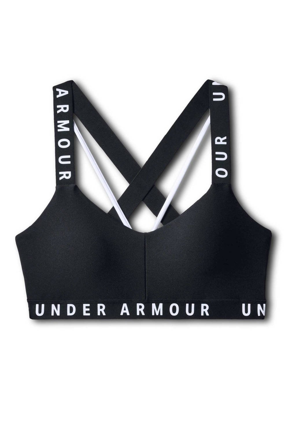 Under Armour Level 1 sportbh zwart, Zwart