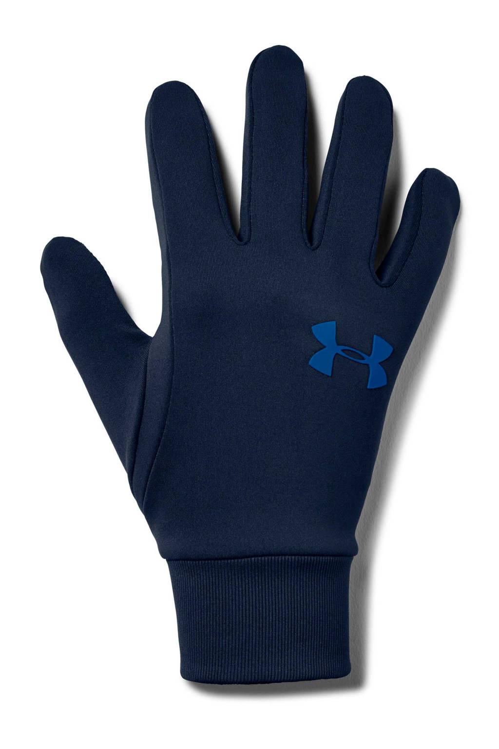 Under Armour   hardloop handschoenen donkerblauw, Donkerblauw