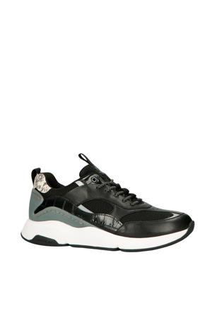 Zerogrand City Trnr W15471 leren sneakers zwart/grijs
