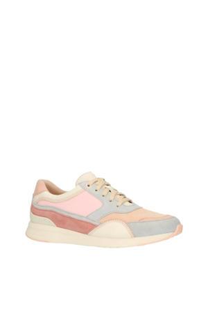 Grandpro Dwntwn Rnnr W14252 leren sneakers roze/multi