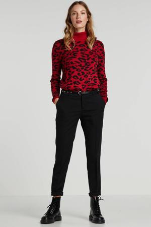 coltrui met panterprint rood/zwart