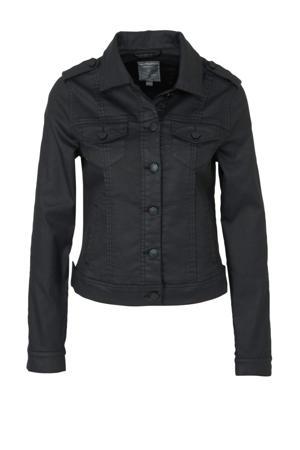 coated spijkerjasje zwart