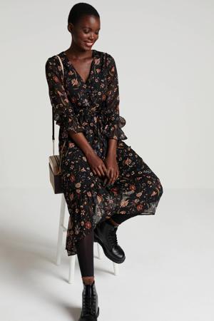 gebloemde jurk Anette zwart