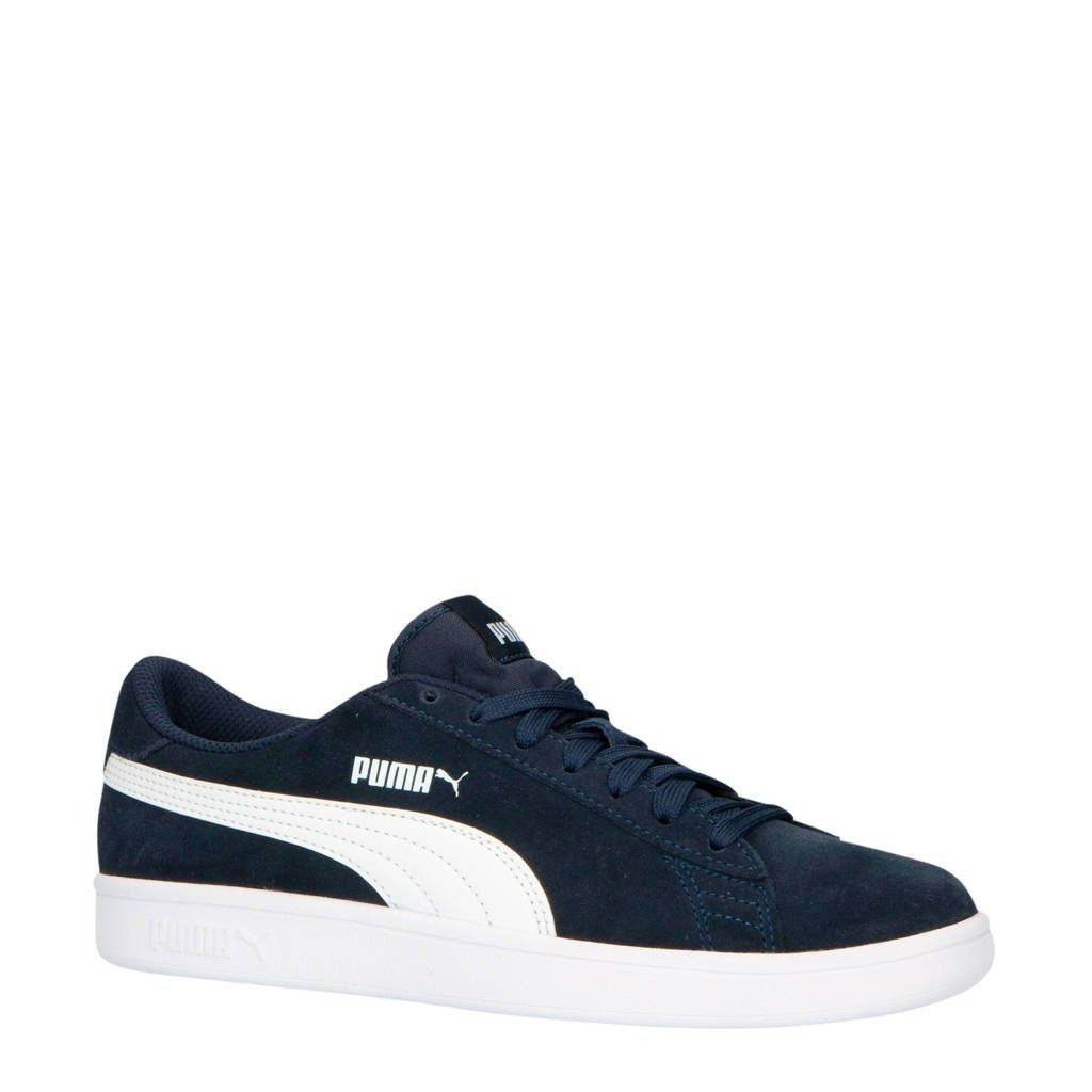 Puma  Smash V2 SD Jr sneakers donkerblauw/wit, Donkerblauw/wit