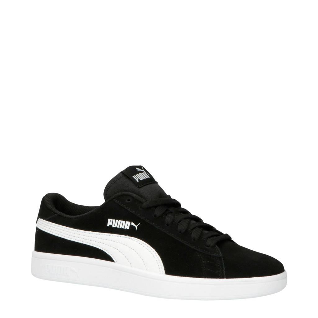 Puma  Smash V2 SD Jr sneakers zwart/wit, Zwart/wit