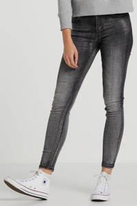 Il Dolce high waist skinny jeans Sylvie grijs, Grijs