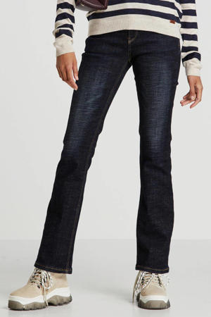 high waist bootcut jeans dark denim