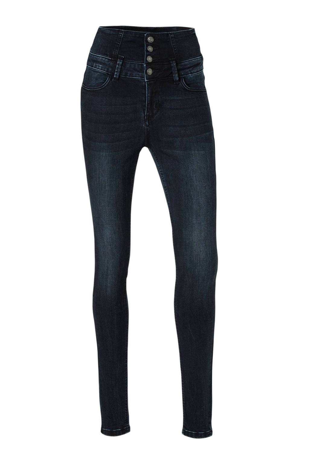 Il Dolce high waist skinny jeans donkerblauw, Donkerblauw