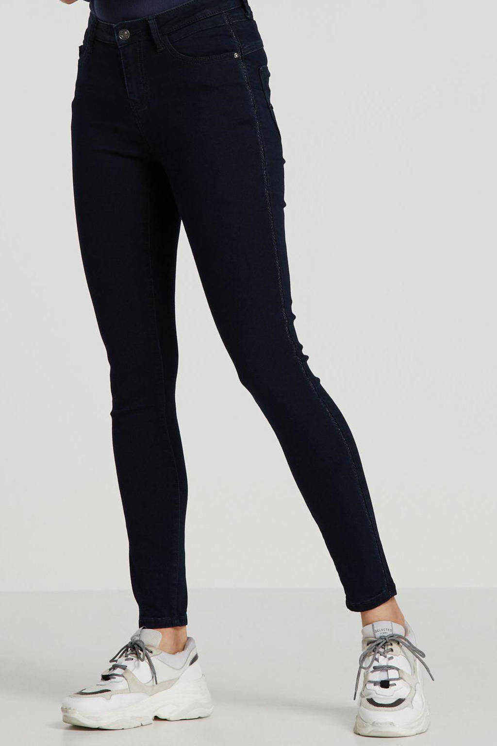 Il Dolce high waist skinny jeans dark denim, Dark denim